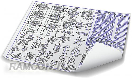Деталировочные чертежи металлоконструкций (КМД)